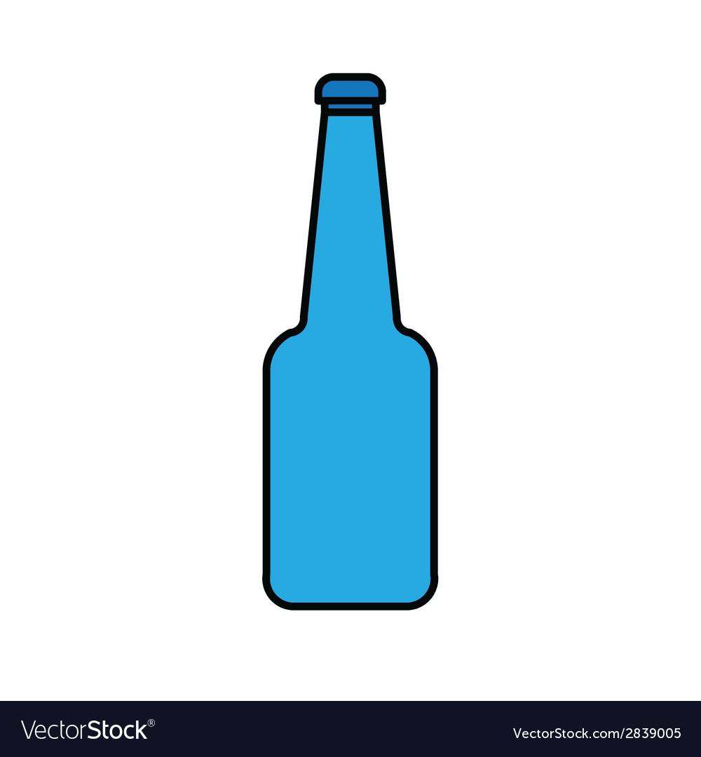 Blue glass bottle vector image