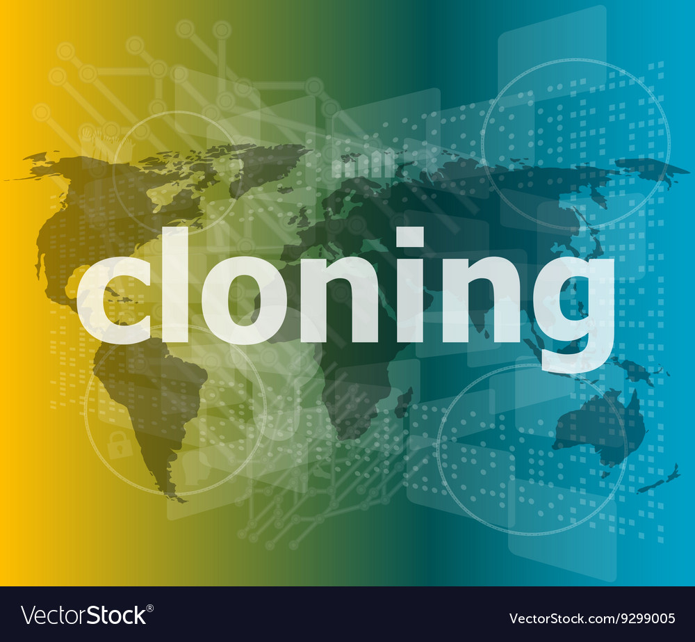 Cloning word backgrounds touch screen with