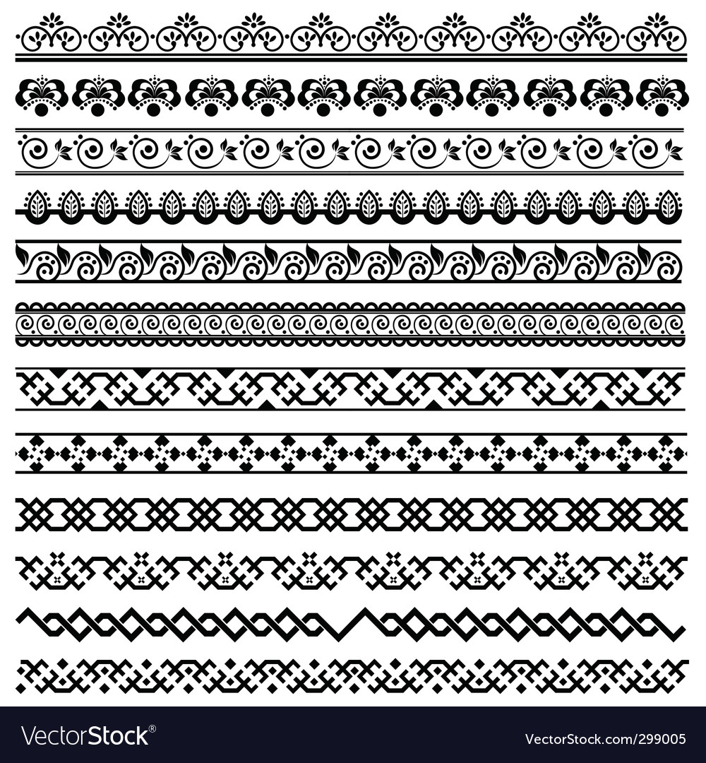 floral border royalty free vector image vectorstock rh vectorstock com floral border vector vintage floral border vector ai