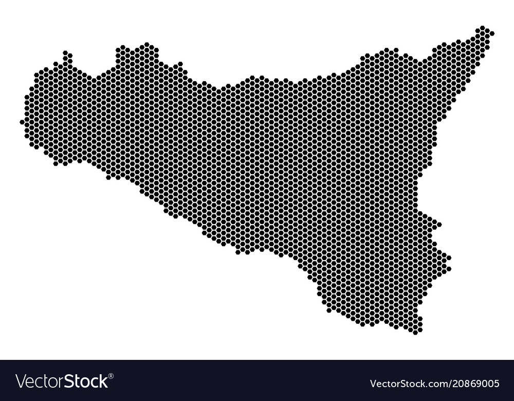 Honeycomb sicilia map