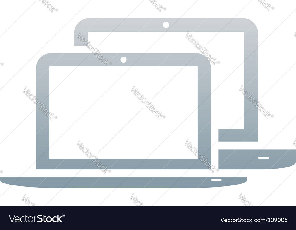 Laptops icon vector image