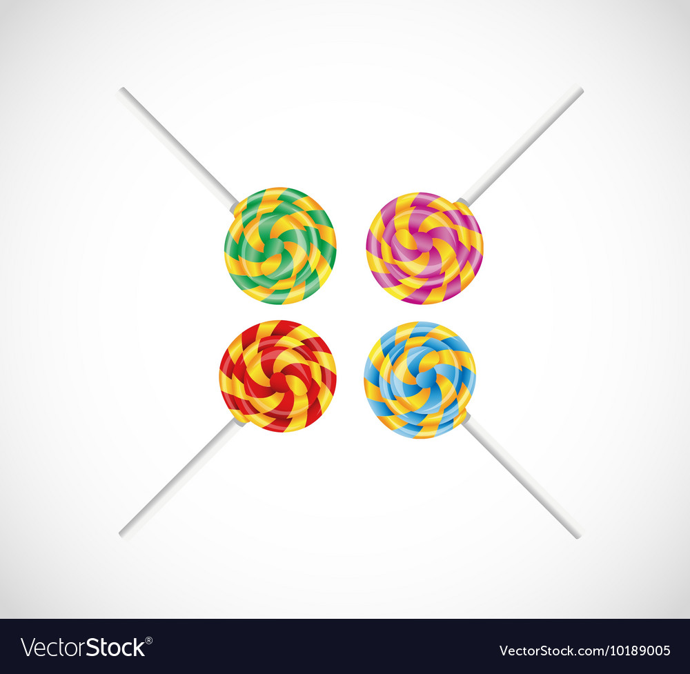 Set with colorful candy vector image