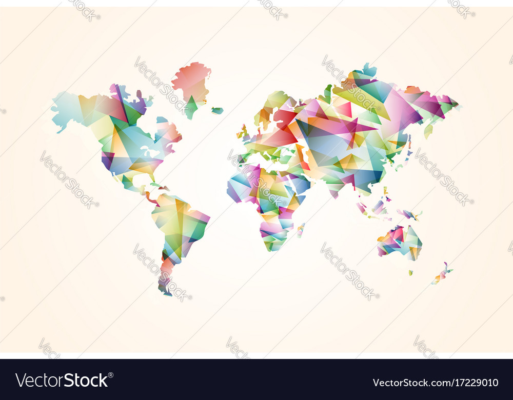 Abstract triangle world map concept royalty free vector abstract triangle world map concept vector image gumiabroncs Gallery