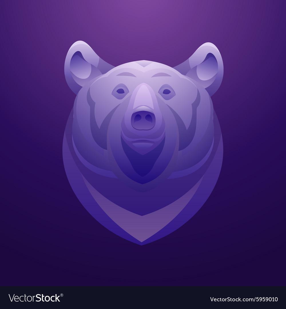 Bear logo template Animal head symbol