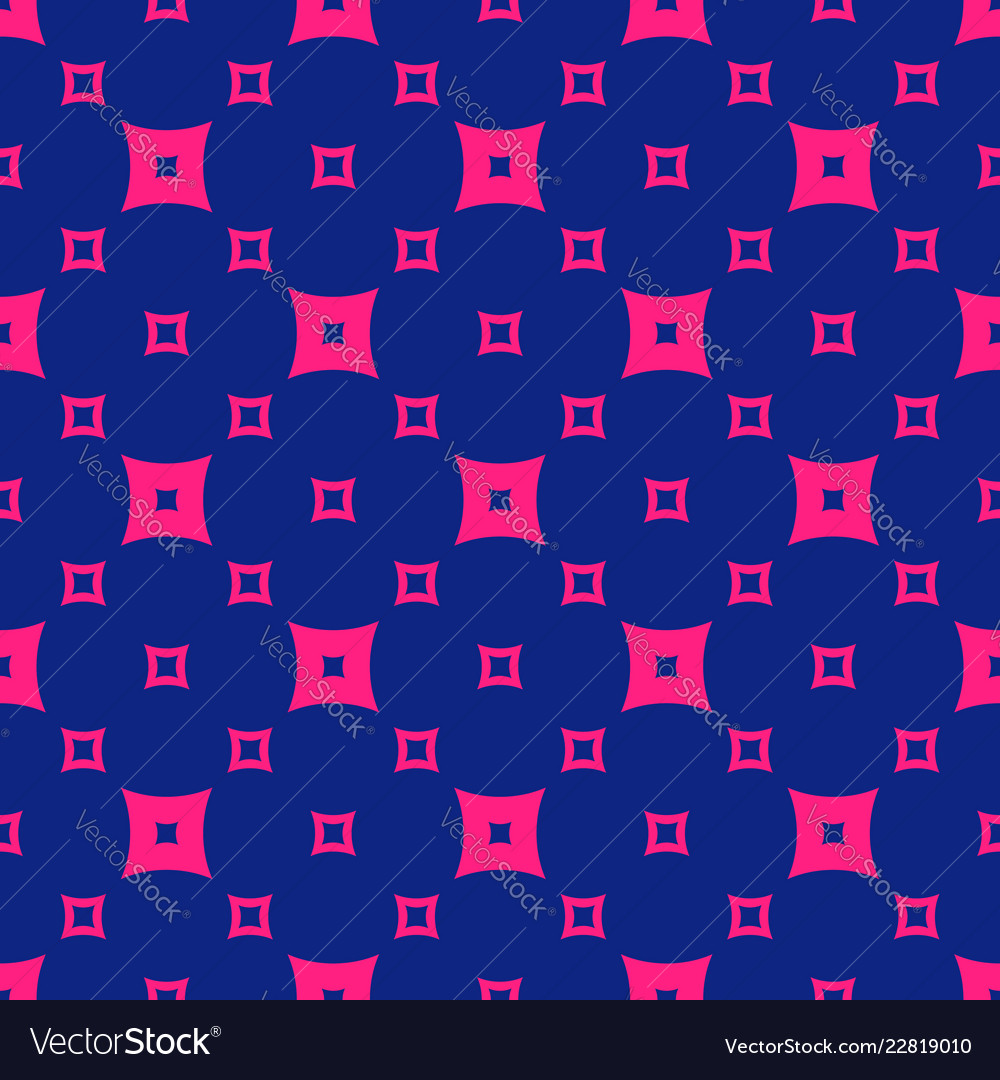 Colorful pink and navy blue geometric seamless