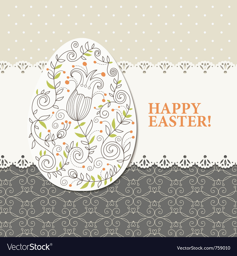 Easter Greeting Card Royalty Free Vector Image