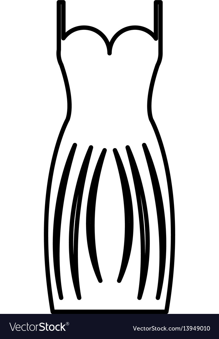 Elegant female dress icon