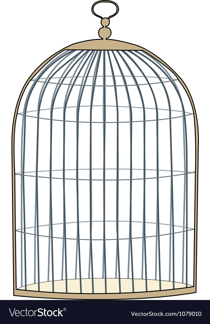 gold cage royalty free vector image vectorstock