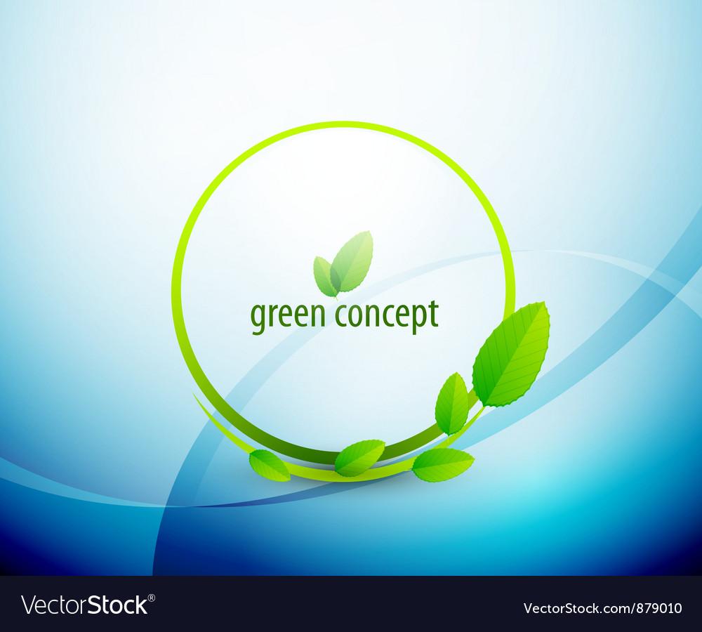 Green circle nature concept vector image