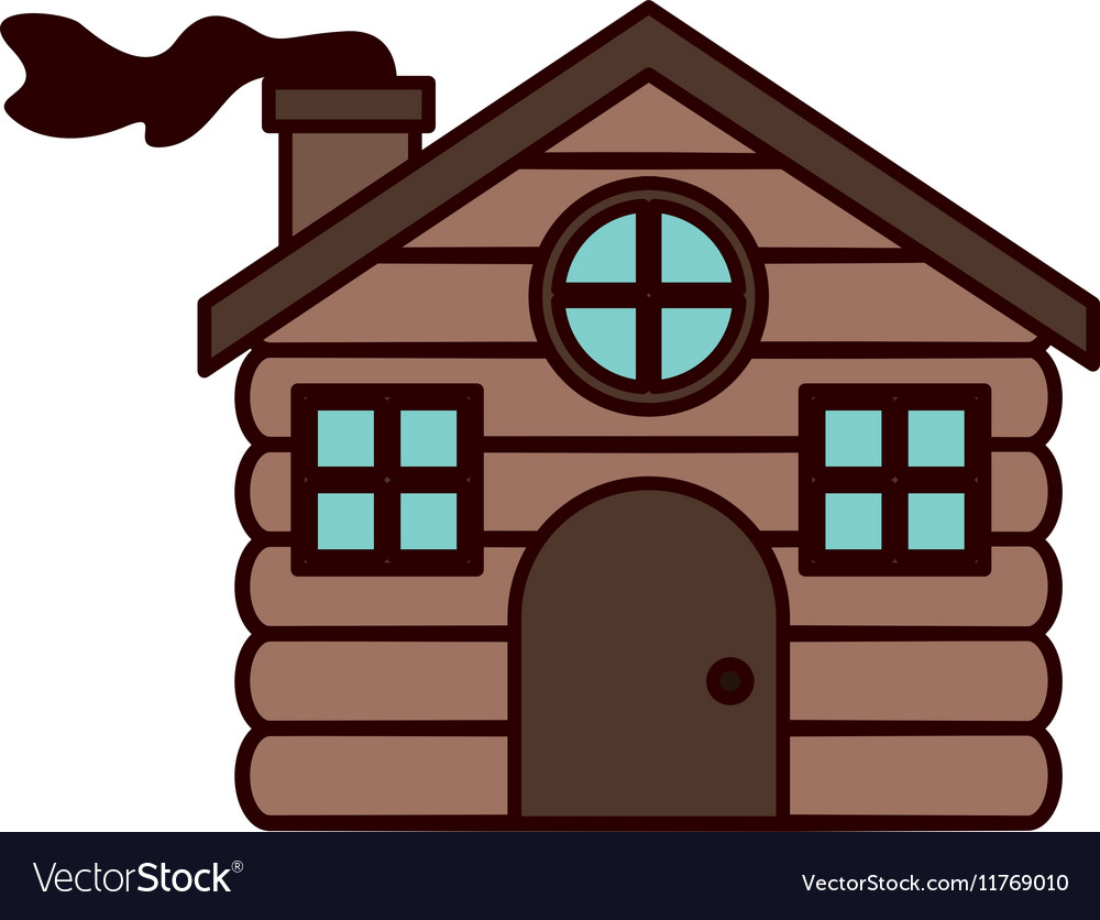 House made of wood with chimney