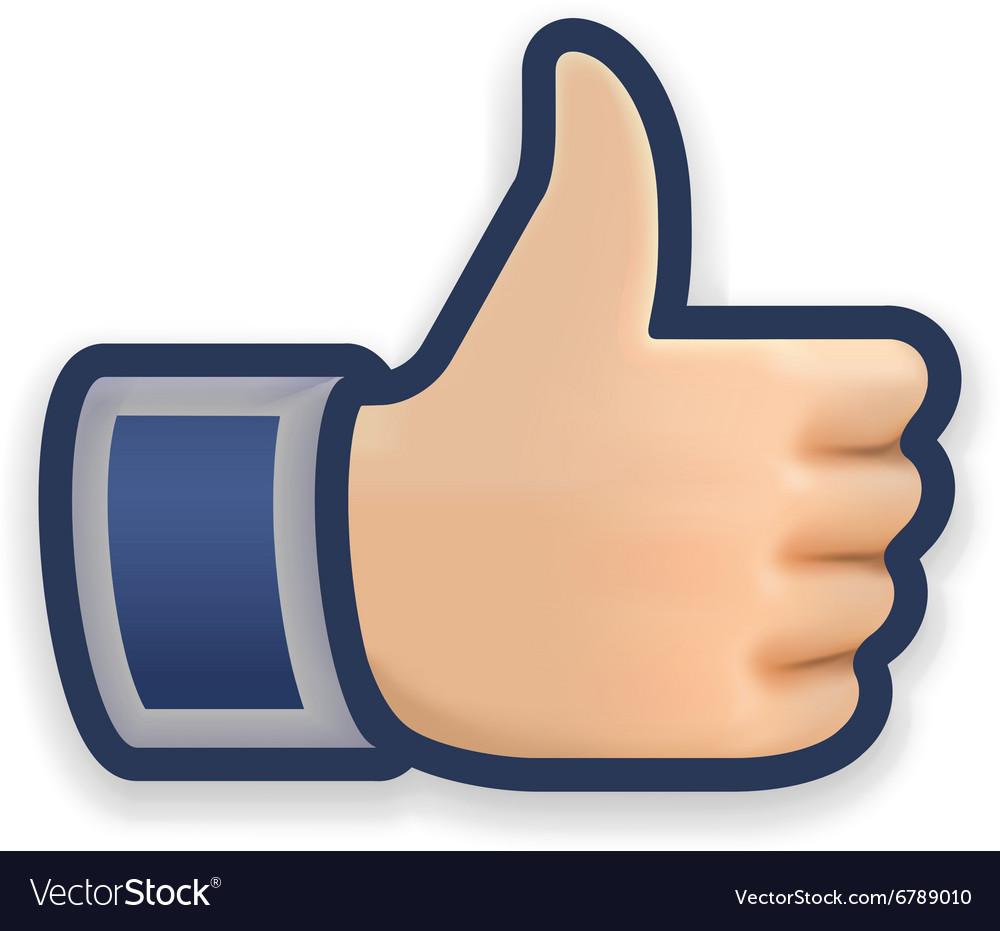 Like icon emoji thumb up symbol Royalty Free Vector ImageThumbs Up Symbol