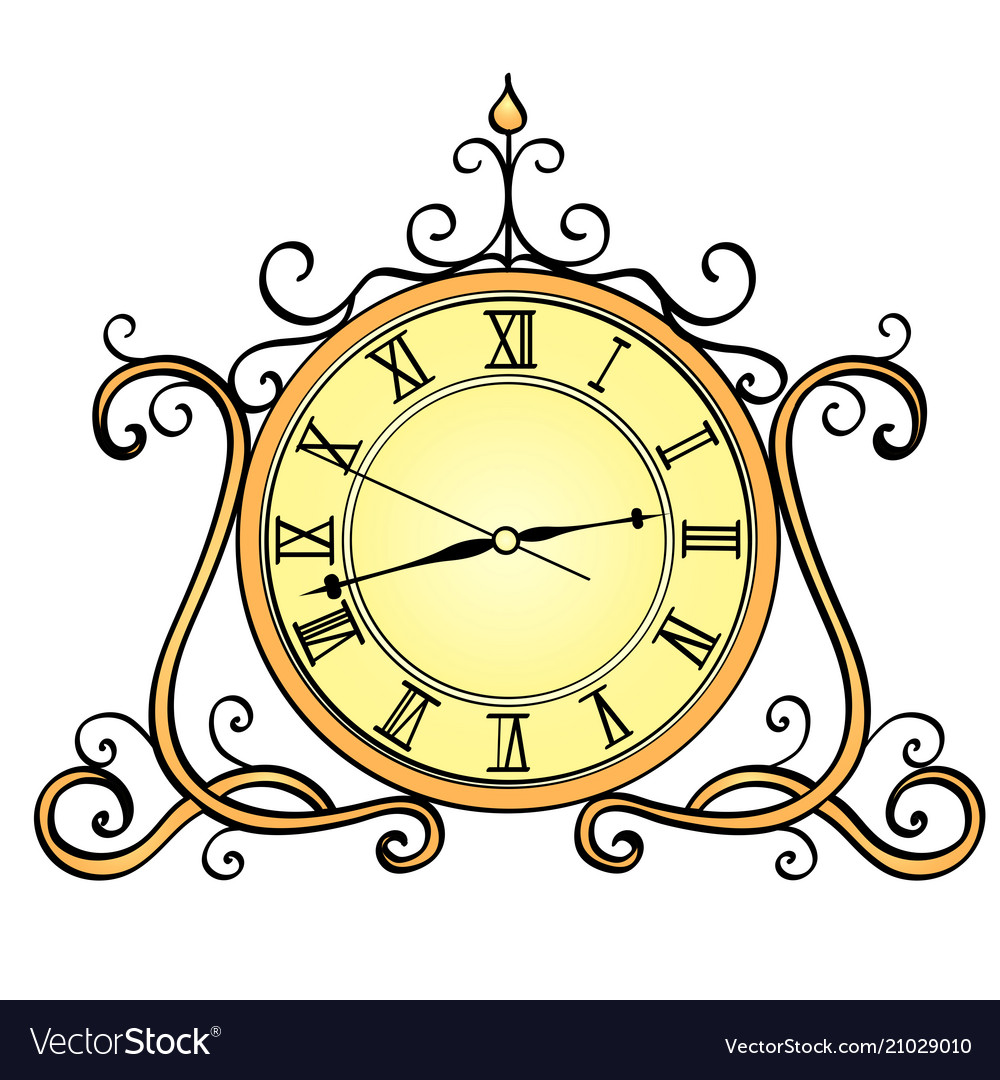 Object isolated on white background desktop clock