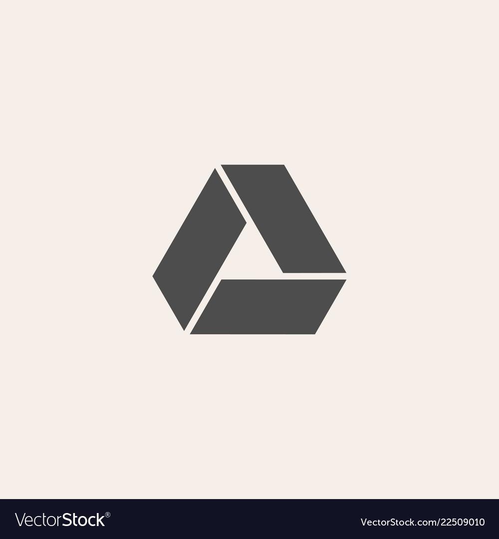 Triangle icon geometric design logo in flat style