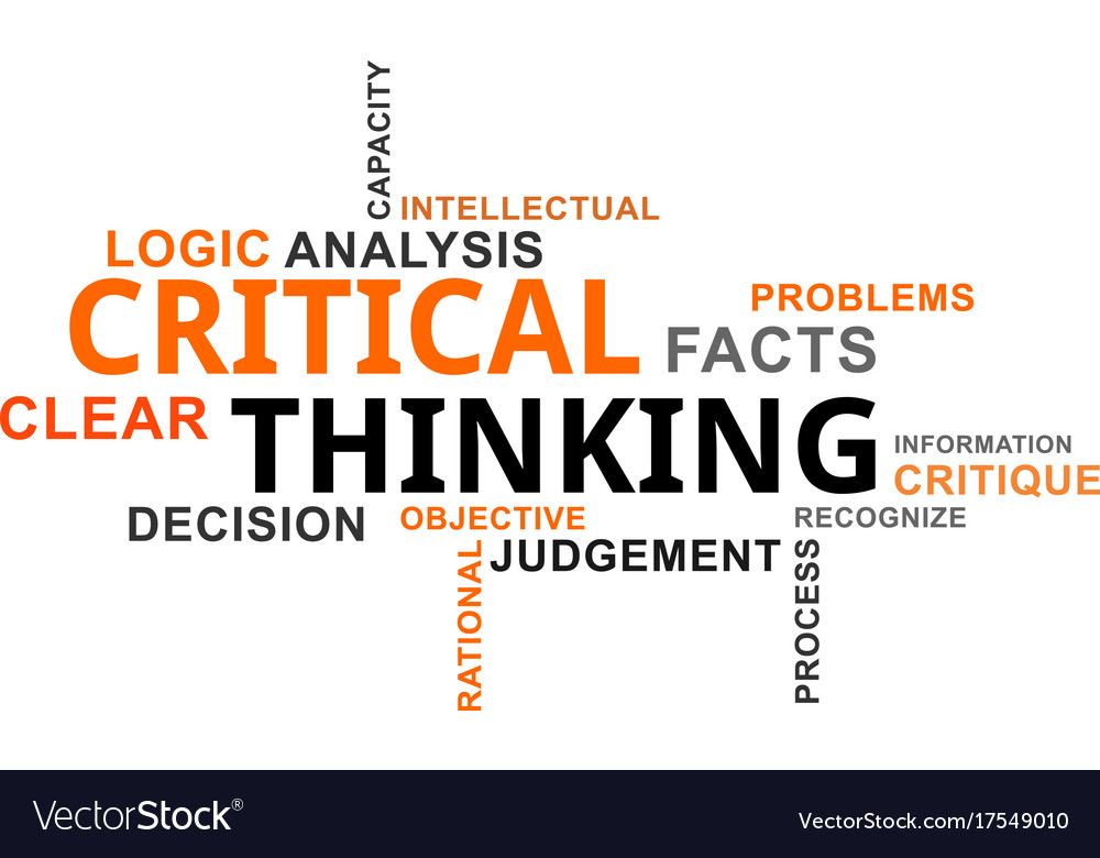 background information on critical thinking Critical thinking is much more than simply analyzing some subject from different perspectives and presenting several points of view it requires much background information to be gathered and many observations to be made.