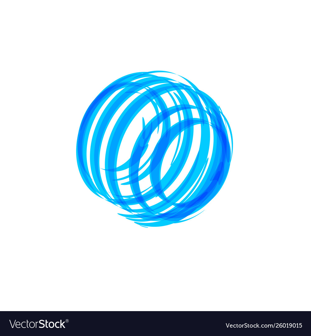 Abstract blue circle shape logo concept global