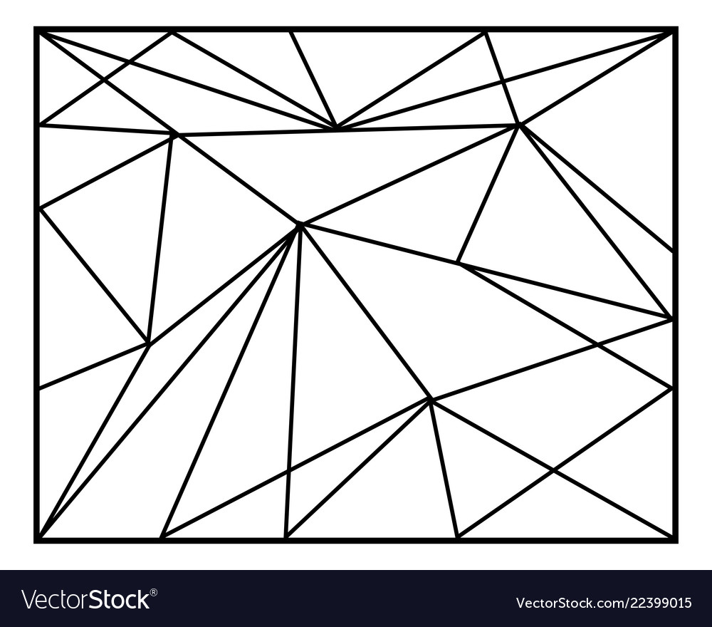 Abstract geometric backgrounds in lines polygonal