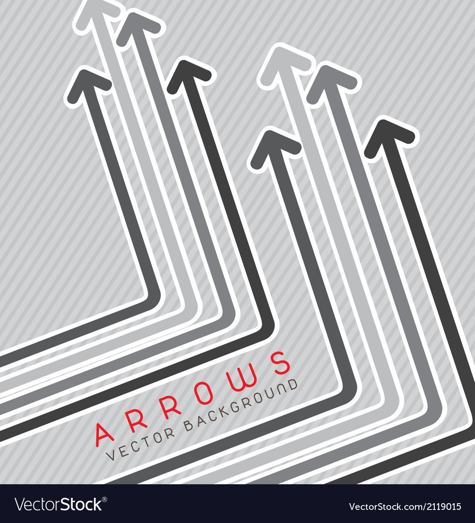 Arrows background vector image