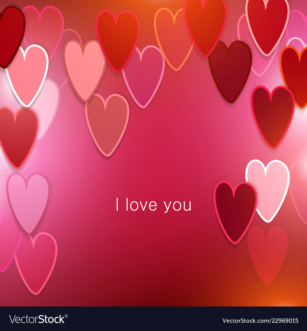 Elegant background with hearts valentine s