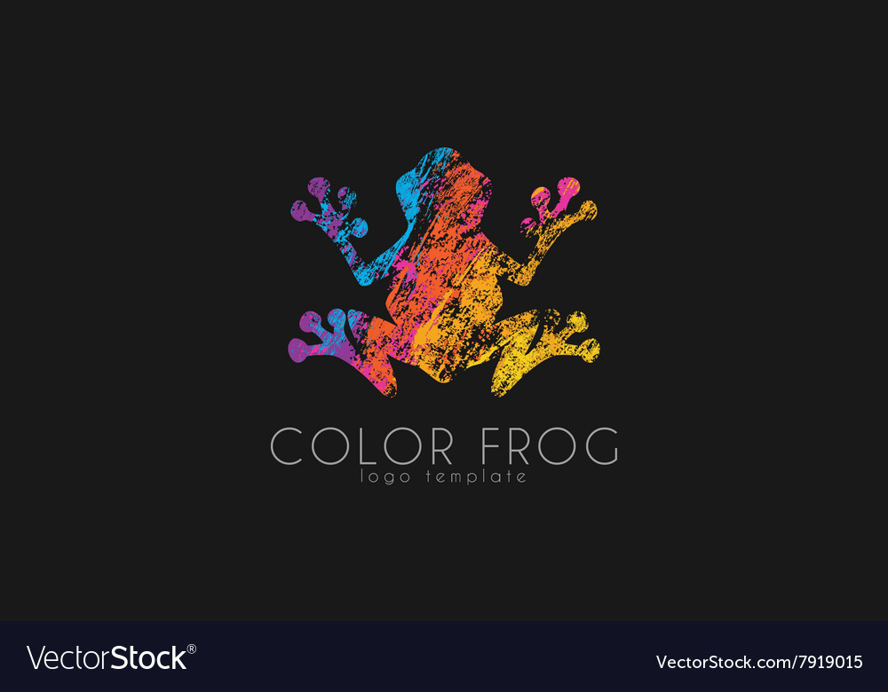 Frog logo Color frog logo Creative logo design vector image