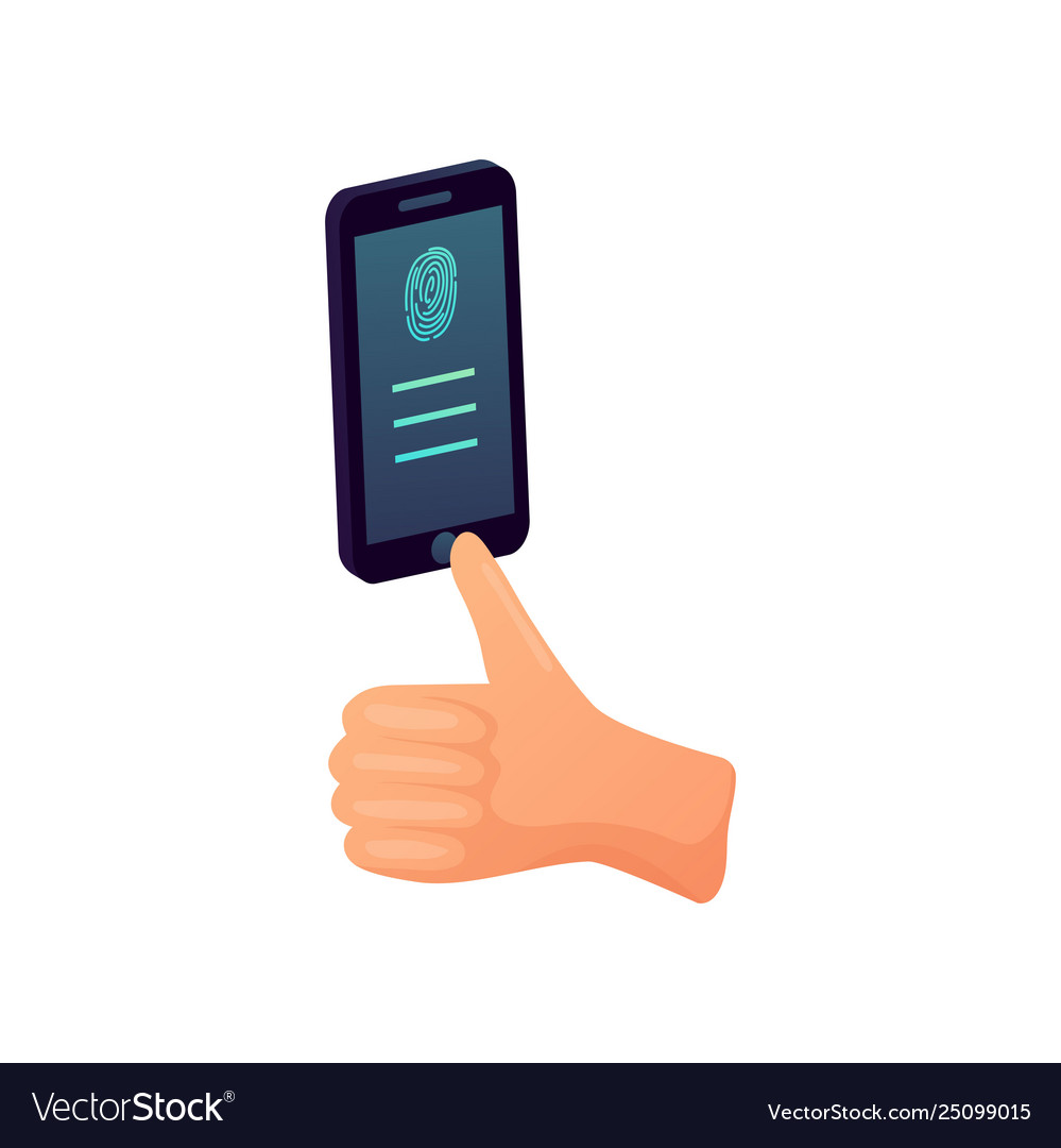 Smartphone round fingerprint button modern