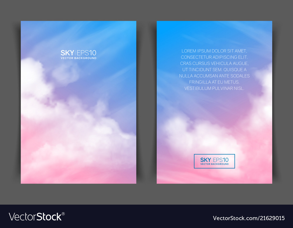 two sided vertical flyer of a4 format with vector image