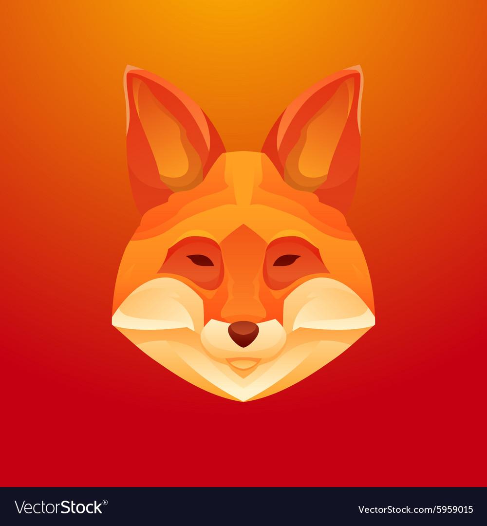 Vintage fox label Retro design graphic vector image