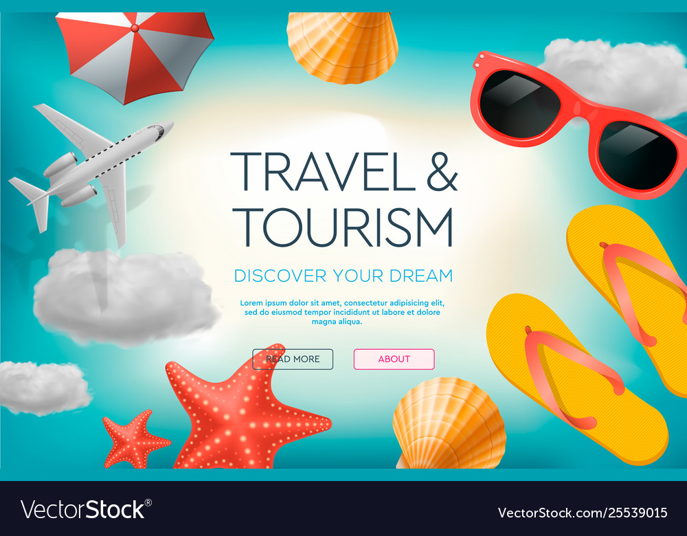 Web site design template on theme travel