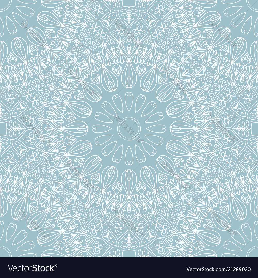 Abstract round ethnic seamless pattern on white