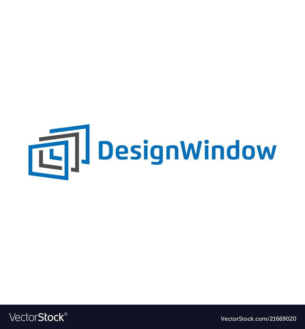 Abstract window design logo template
