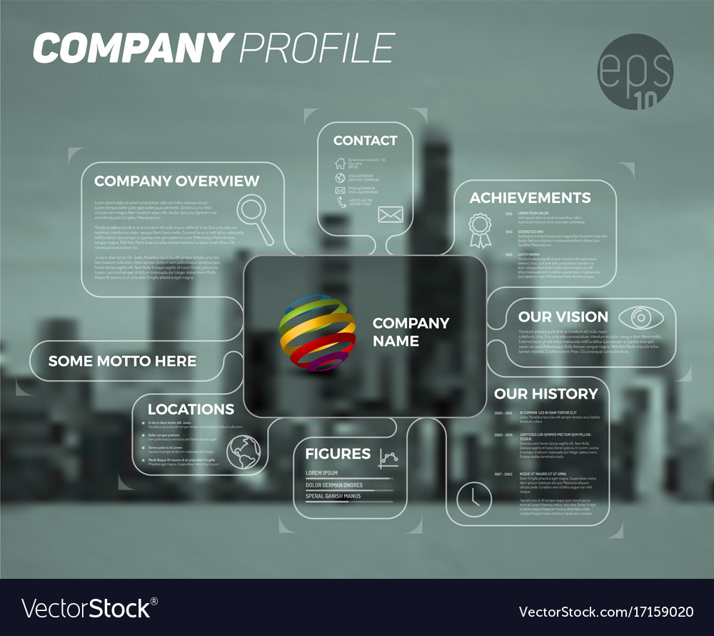 Design infographic template of company overview