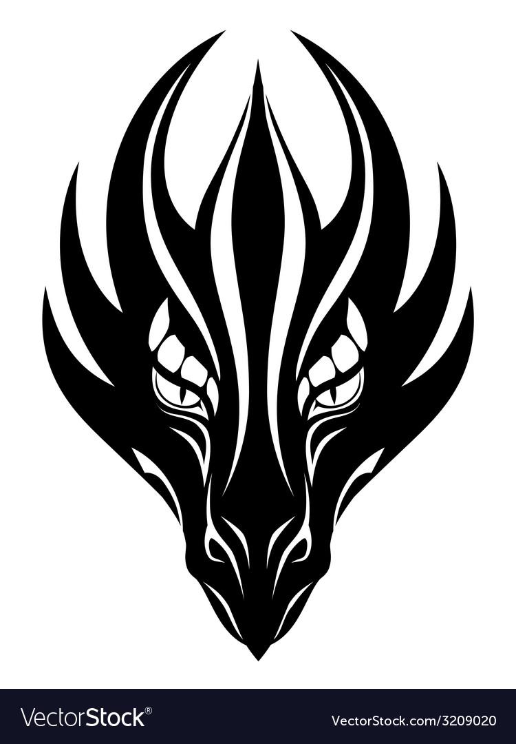 3f1ff6731ca30 Dragon face symbol Royalty Free Vector Image - VectorStock