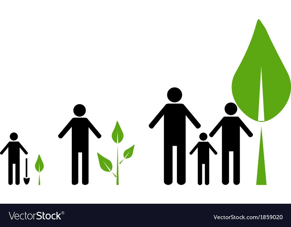 Eco concept vector image