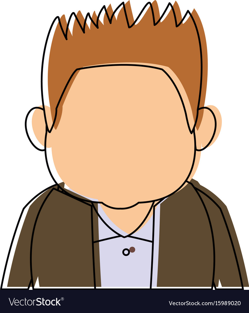 Man character adult avatar profile picture vector image