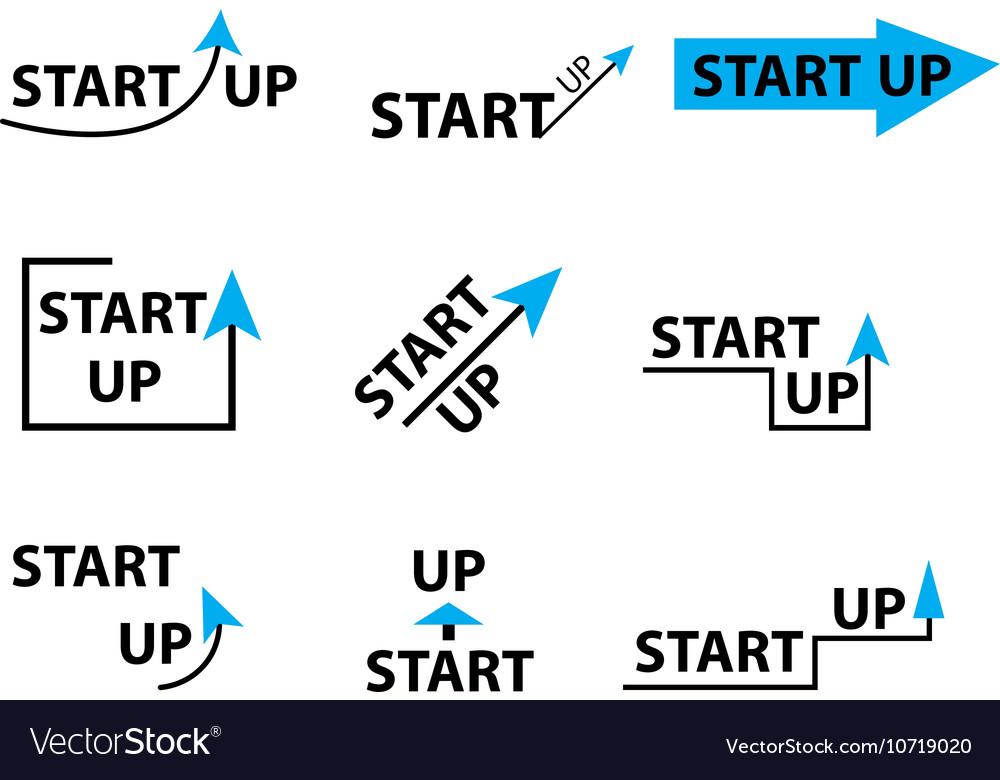 Set startup logo element startup company logo