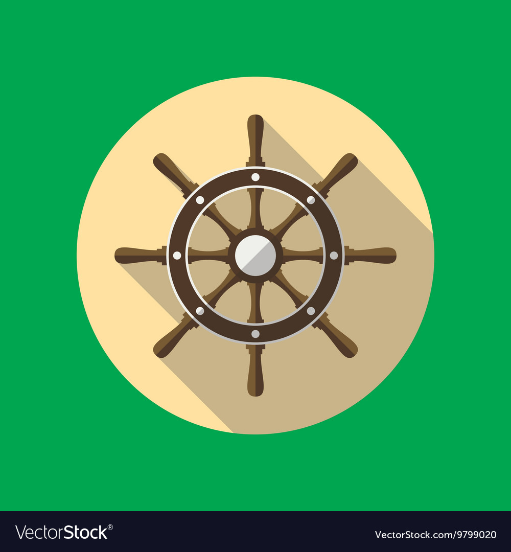 Ship Helm Flat Icon