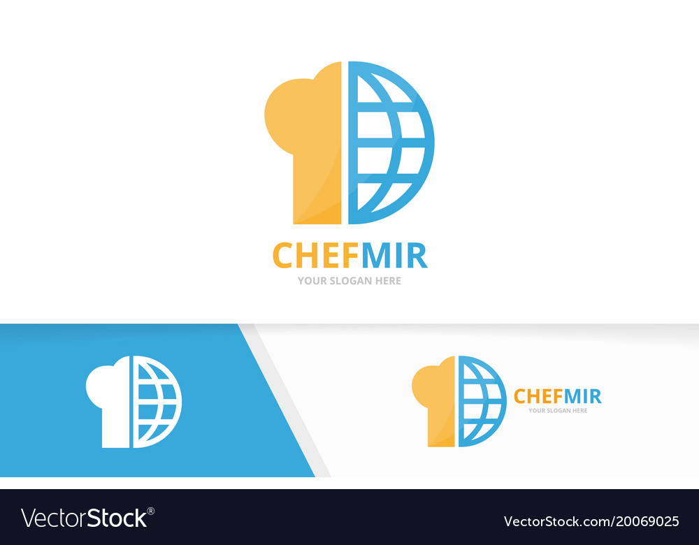 Chef hat and planet logo combination