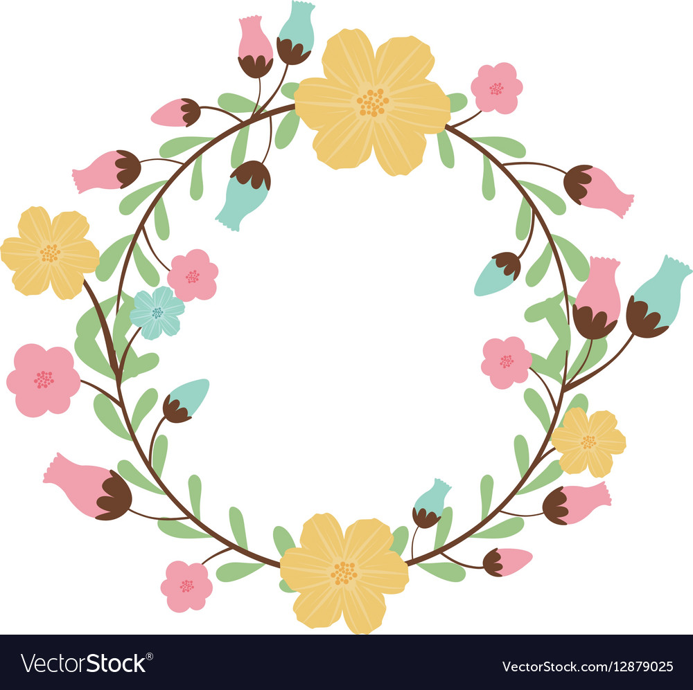 Circular arch with leaves and flowers