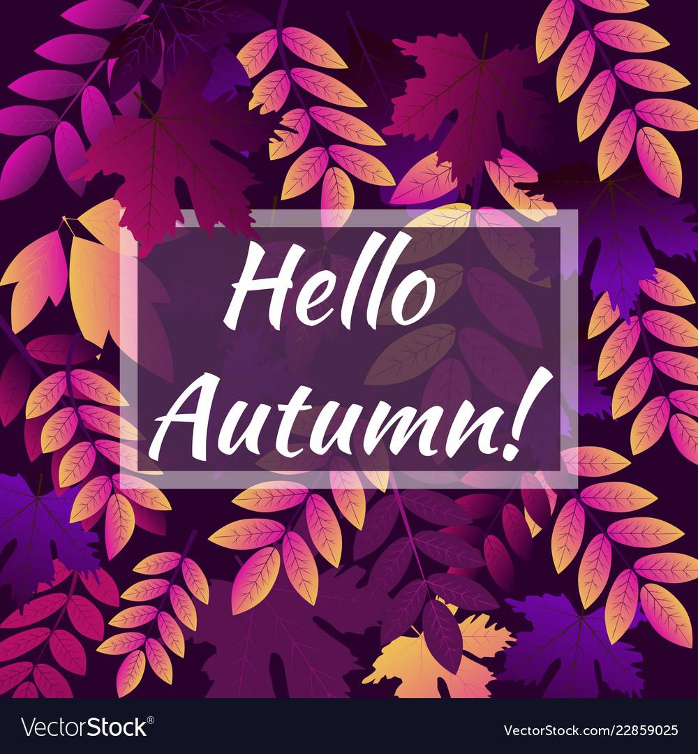 Hello autumn leaf background of seamless texture
