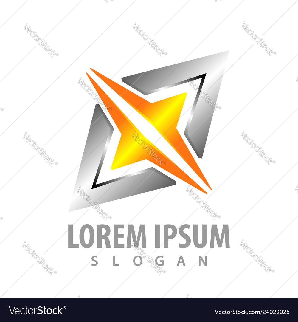Logo concept design geometric shiny spark light