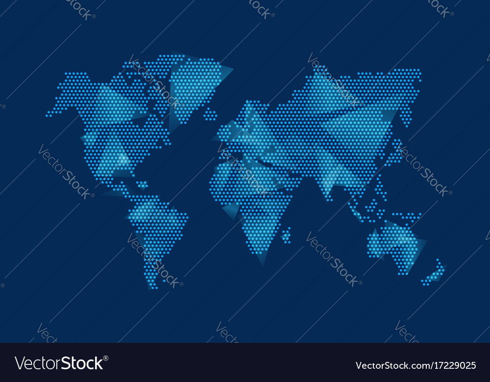 Modern digital world map technolgoy concept design modern digital world map technolgoy concept design vector image gumiabroncs Gallery