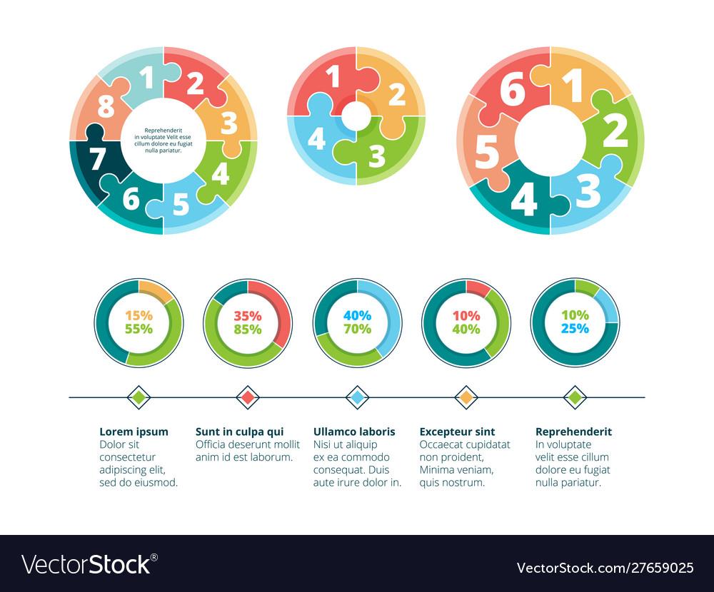 Puzzle infographic business success steps idea