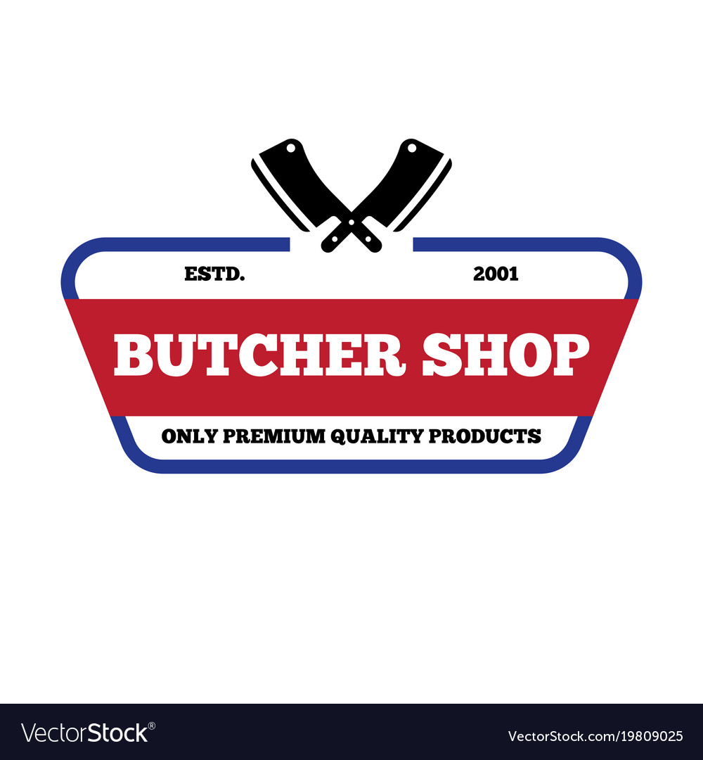 Set of butchery labels badges and design