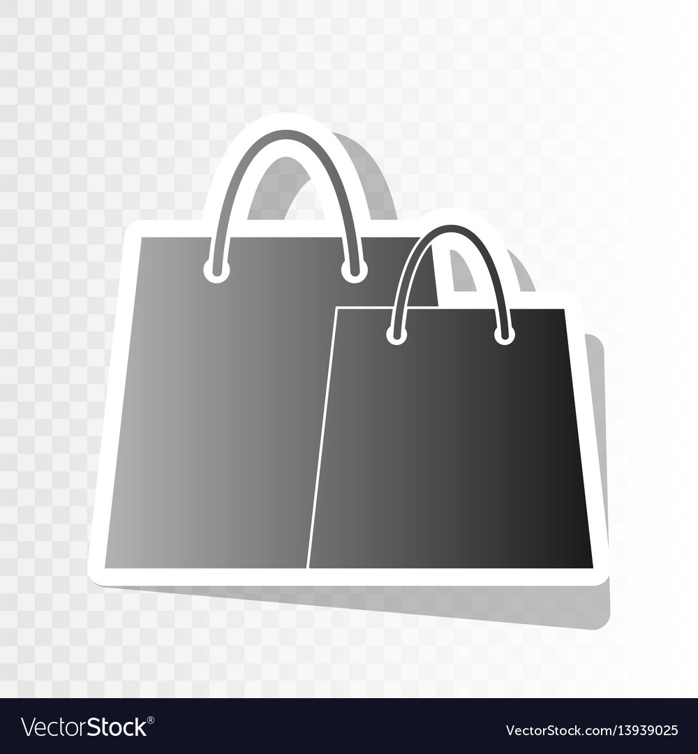 Shopping bags sign new year blackish icon