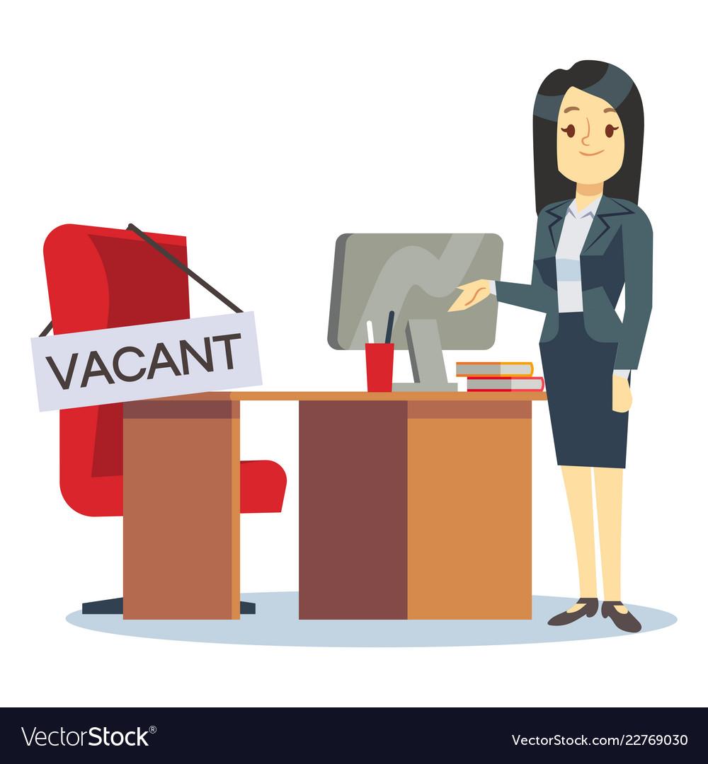 Employment vacancy and hiring job concept