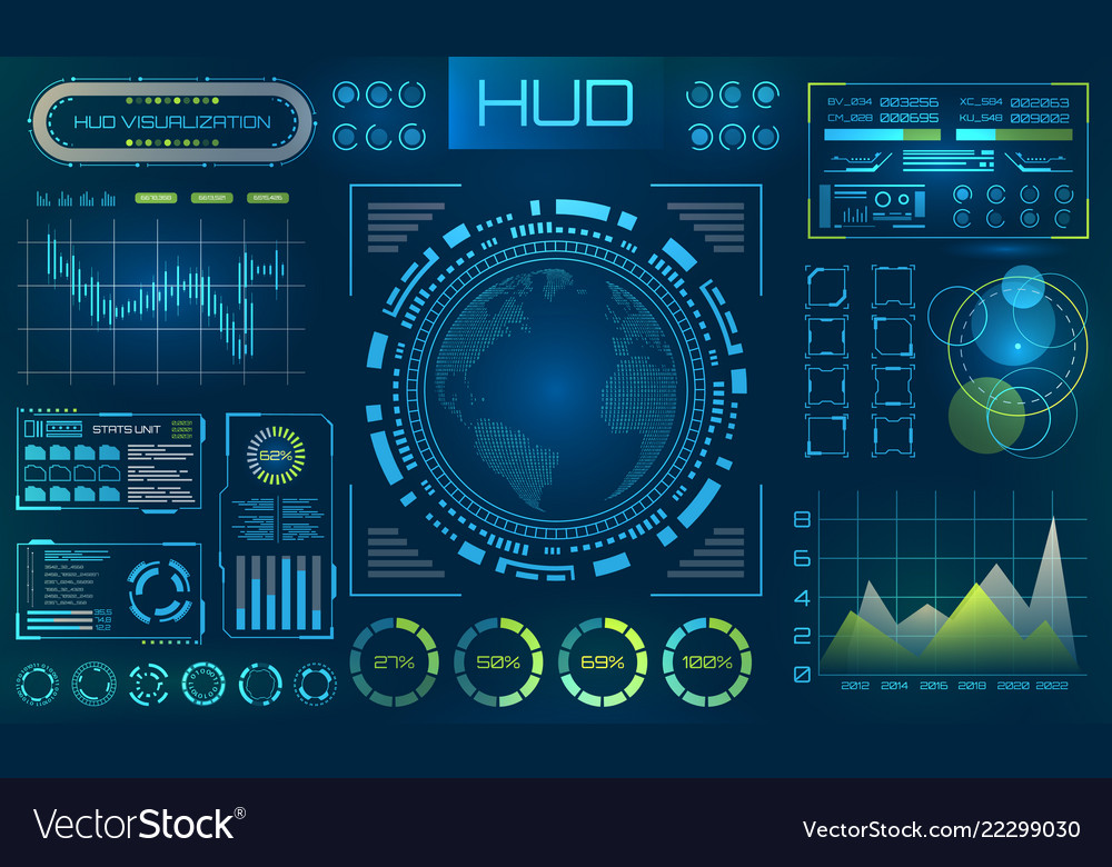 Futuristic hud background infographic or