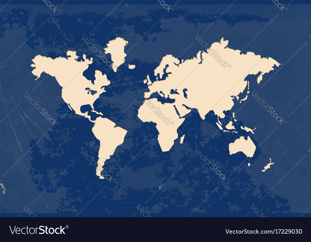 Paper Cut World Map Grunge Texture Royalty Free Vector Image