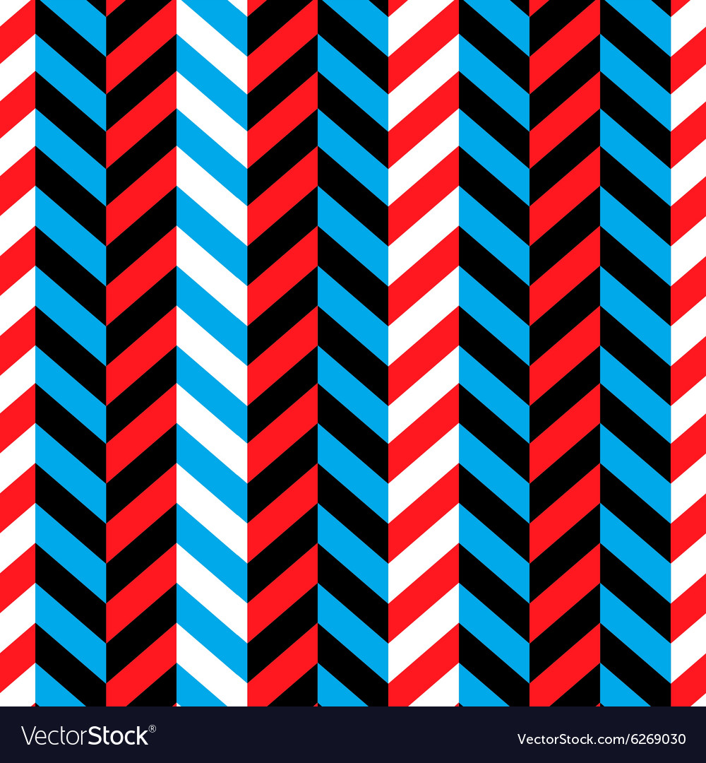 Seamless geometric blue and red pattern