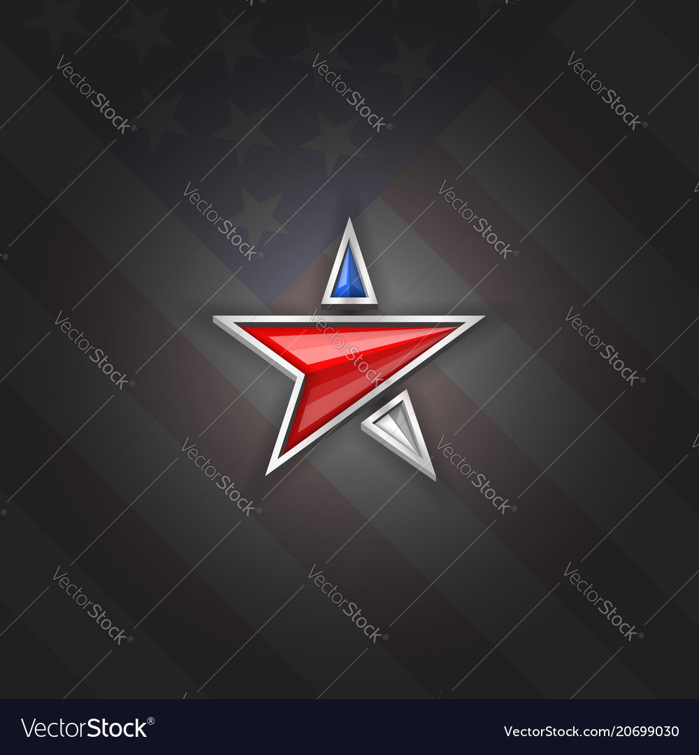 Star logo patriotic symbol usa independence day vector image