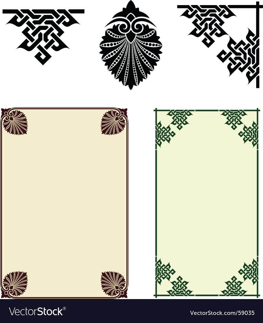 Art nouveau motifs Royalty Free Vector Image - VectorStock