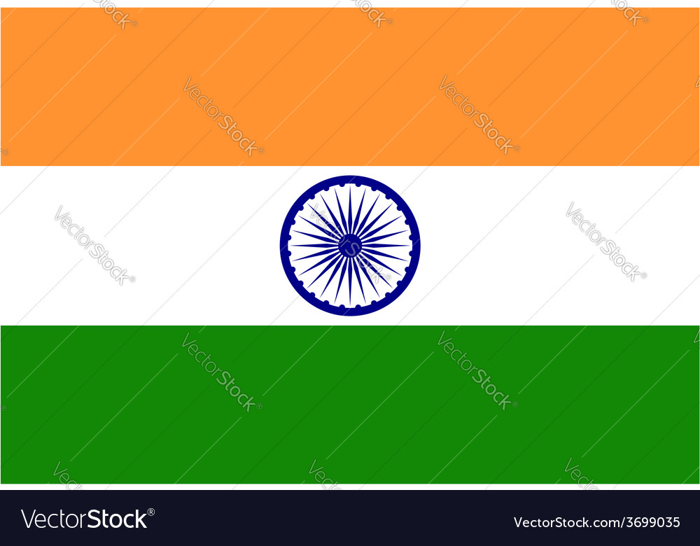 Background of india flag vector image